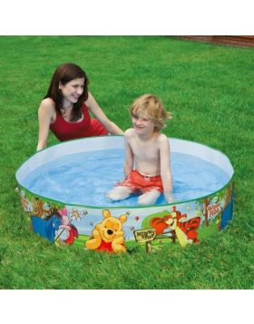 Intex Pool with a solid wall of Winnie the Pooh