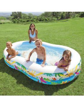 INTEX Swim Center Inflatable Paradise Seaside Kids Swimming Pool