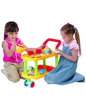 PlayGo 23-Piece Tea Time Trolley Set 3128
