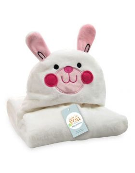 Baby Blore Blanket Bunny Pink & White