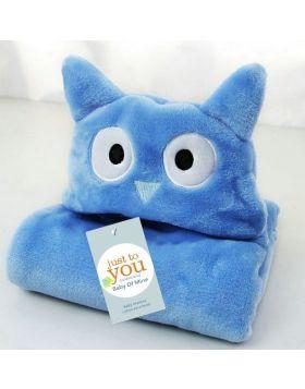 Baby Blore Blanket Owl Blue