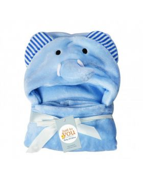 Baby Blore Blanket Elephant Blue