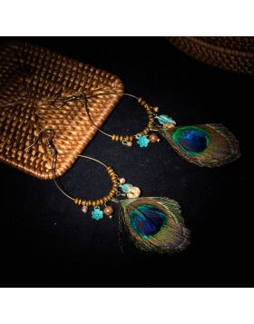 Peacock Feather Earrings For Women