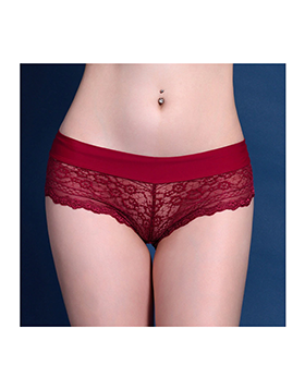 Red Female Sexy Panties Lace G-String Briefs Lingerie