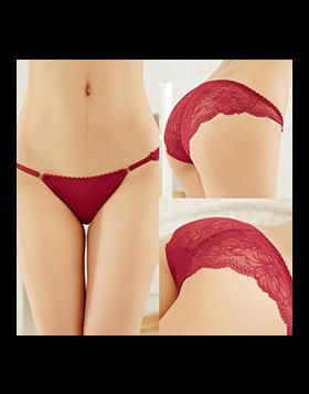 Ice Silk Low Waist Lace Panties Women Underwear
