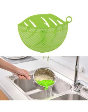 Leaf Shaped Rice Wash Gadget