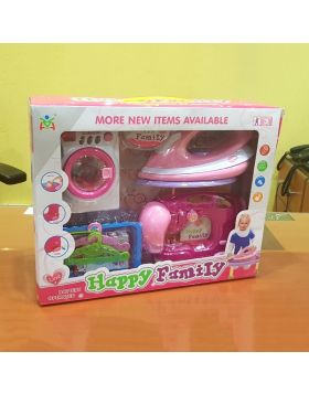 Happy Family Sewing Machine & Clothing Iron Deluxe Set