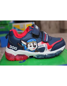 Kids Blue Dog Police Shoes