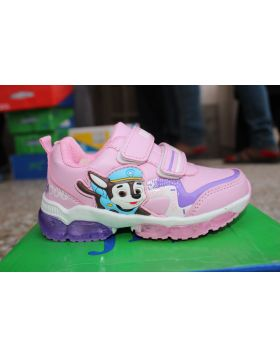 Unisex Pink Dog Police Fashion Shoes