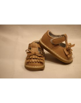 Baby Brown Bow Shoes
