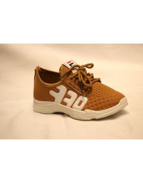 Boys Brown E Fashion OFF Shoes