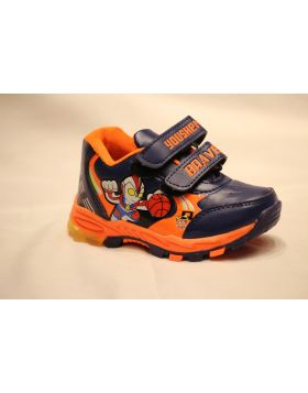 Boys Brave Orange Shoes With Light