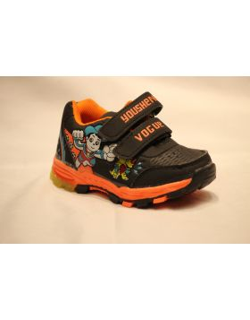 Boys Vogue Orange Shoes With Lights