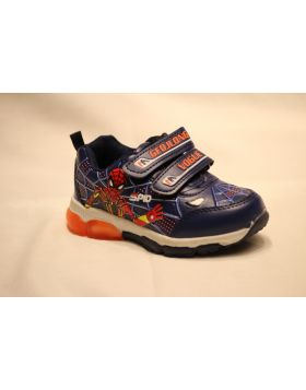 Boys Spiderman Vogue Blue Shoes With Lights