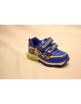 Boys Captain America Blue Shoes With Lights