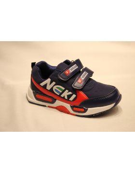 Boys Neki Blue Orange Vogue Shoes