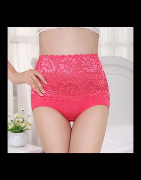 High Waist Lace Belly Carry Briefs Underwear
