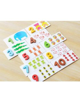 Digital Wooden Pre-school Cards – Numeric
