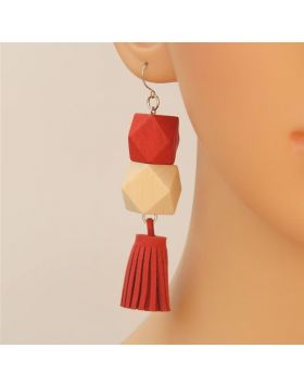 Wooden Beads Party Jewelry Earring