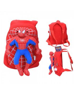School Stuff Bag with Spiderman Figure